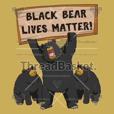 black bear lives matter t-shirt design vector – threadbasket  threadbasket