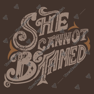 She Cannot Be Tamed Vector Design for T-Shirts and Merch – She can not be tamed vector text on a retro-style design