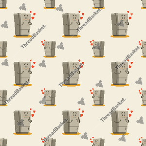Seamless Fridge In Love Pattern Design for Print-on-Demand